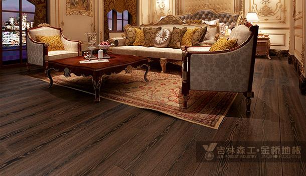 三层实木复合地板——长白霞光(简欧风格)