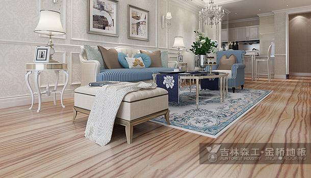 三层实木复合地板——天鹅城堡(简欧风格)