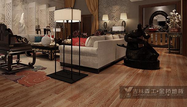 三层实木复合地板——生命之舞(中式风格)