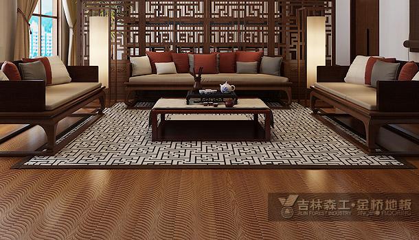 三层实木复合地板——生命年轮(中式风格)