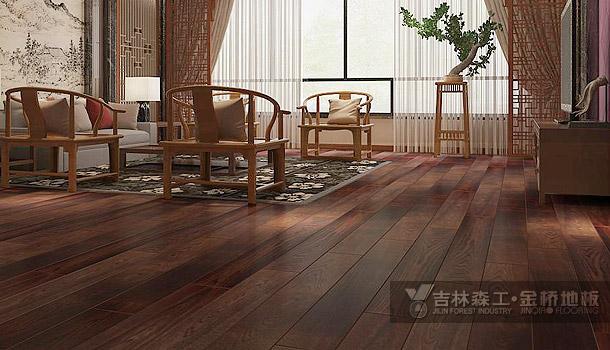 三层实木复合地板——云海神池(中式风格)